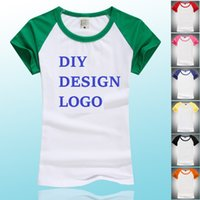 t-shirts no logo - HOT Fashion Design Women Men Clothes T shirts DIY Pirnt Your Design Logo Custom Made Costume Good Quality Cotton Long Short Sleeve Tops