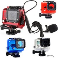 Wholesale Go Pro Accessories Skeleton Protective No Waterproof Side Open Housing Case For Gopro hero with Microphone