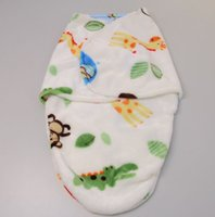 Wholesale Newborn Baby Sleeping Bags with animals Spring Autumn Strollers Bed Swaddle Blanket Wrap Cute Baby Sleeping Bag