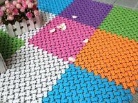 Wholesale color cm cm creative Little feet PVC splicing anti slip bath mat for bathroom living room kitchen home decor