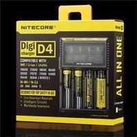 Cheap Nitecore D4 Digcharger Battery Charger Original Nitecore LCD Display Universal Nitecore Charger +Retail Package ,EU plug