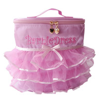 ballet totes - 2016 Stylish Princess Style Pinky Lace Tutu Ballet Bag Lovely Layered Ruffle Dance Tulle Backpack with Tote Handle for Dancing Ballet Girl