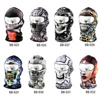 balaclava hood neck - 3D Print Bicycle Headwear Cycling Motorcycle Outdoor Sports Balaclava Neck Ski Bike Cycling Full Veil Face Mask Cap Hood Hat Cover Colorful