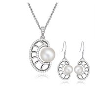 beautiful culture - Nautilus Theme Cultured Freshwater Pearl Jewelry Set Beautiful Conch Silver Jewelry Sets for Women SE00226