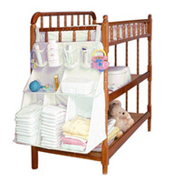 bamboo baby furniture - Home Cloth Storage Bag Baby Bed Hanging Shelf Diaper Nappy Bottle Toy Organization Nursery Closet Furniture Accessories Supplie