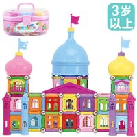 age of castle - Genuine Castle super magnetic wand toys puzzle assembly barreled Mega Blocks toys years of age