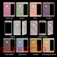 Wholesale For iPhone SE s plus for Galaxy S5 S6 S7 edge Note Bling Diamond Glitter Sticker Shiny Front Back
