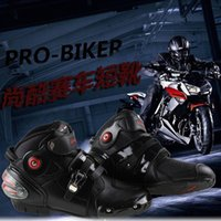 Wholesale 2014PRO BIKER car racing motorcycle boots A9003 waterproof and windproof anti fall