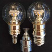 aluminum candle - Aluminum W LED Candle Lights High Power E14 E27 SMD Globe LED Light Bulbs Warm White CE RoHS Certification Led Lamp JTFL020