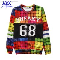 Wholesale New fashion men thin d sweatshirts tie dye sweatshirt printed SNEAKY crewneck graphic hoodies pullover clothing