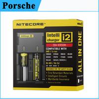 Wholesale Authentic Nitecore I2 Universal Intellicharger Charger for lg hg2 Battery Multi Function Charger US UK EU plug