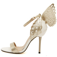 Wholesale Sophia Webster Butterfly Wings Women High Heels Bowtie Summer Shoes Sandals Woman Pointed Toe Ankle Strap Shoes Pumps