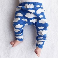 baby clothes on sale - On sale Baby Leggings Pants trousers harem Tights legging toddler capris pants Clouds print boys girls clothes baby clothing colors