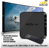 Wholesale 50PCS MXQ K TV Box Smart Boxes Rockchip RK3229 KODI Fully Loaded H K tps Support HD Media Player Android TV Box Remote Control
