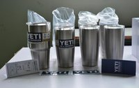 Wholesale Yeti oz Cups Cooler YETI Rambler Tumbler Travel Vehicle Beer Mug Double Wall Bilayer Vacuum Insulated Stainless Steel day shipping