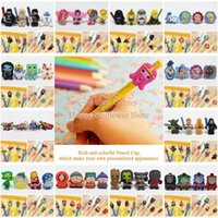 Wholesale little ponies Mickey Minnie Adventure Time crafts cartoon PVC pencil topper for pen case caps DIY pen kids creative gifts