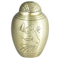 ash making - Pet Funeral Urn Cremation Urn for Pet Ashes Hand Made in Brass Fits the Cremated Remains and Ashes of Dogs Cat CAT FACE Model