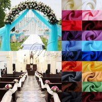 Wholesale 5M x M Top Table Swags Sheer Organza Fabric table skirts Wedding Party Event Chair Stair DIY Bow Decor Supplies