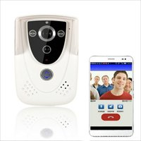 Wholesale Wireless Video doorbell Intercom WIFI PIR Motion activated Waterproof Support android IOS APP unlock by phon