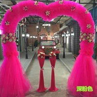 Wholesale The new silk flower door arches marriage anniversary activities arch opening wedding heart shaped