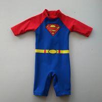 Wholesale M babies swimsuit Unitard Swimsuit boys Beachwear Bathing Boys Swimwear Factory price Superman Surf Sunsafe UPF