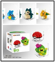 Wholesale Newest CM Pocket Monsters Toy Brick For Baby Kids Poke Cartoon Building Blocks For Children gift With Colorful Retail box