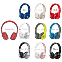 Wholesale Refurbished Used Wireless Beats SOLO Headphone Active Color Wireless SOLO Rose Gold Bluetooth Headset VS Wireless studio headphone