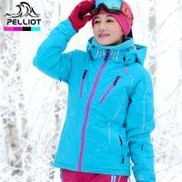 big mountain ski - pelliot ski female more authentic warm mountain ski jacket ski clothes big yards super warm ski jacket