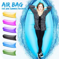 Wholesale Fast Inflatable Sofa Sleeping Bag Air Sleep Sofa Couch Portable Furniture Sleeping Hangout Inflate Air Bed DHL BG238
