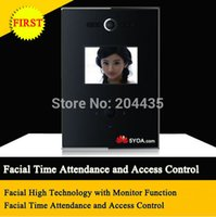 Wholesale Facial Recognition Access Control Machine time Attendance Clock Recorder Face cardpunch better than fingerprint
