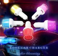 auto novel - High quality Romantic novel creative Micro Auto Universal Dual Port USB Rose Car Charger For iPhone iPad A A