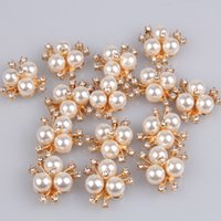 Wholesale Korean fashion diamond pearl flower daisy hairpin DIY alloy disk drill buckle DIY jewelry accessories MYQB001