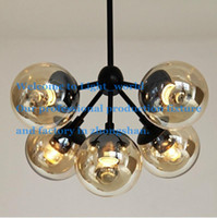 american contemporary art - 3 Globes Nordic Iron Art Pendant Light American Country Vintage Pendant Lamp Contracted and Contemporary Bedroom Droplight