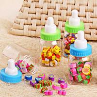 Wholesale 10 bottles Pencil Eraser Rubber School Supplies Cute Cartoon Eraser Kid Children Student Prize Gift bottle Erasers