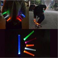 Wholesale 1000pcs CCA3741 Nylon LED Sports Slap Wrist Strap Bands Wristband Light Flash Bracelet Glowing Armband Flare Strap For Party Concert Armband