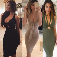 Wholesale club dresses sexy night bodycon dress women clothes suit dress summer clothing green black khaki color S M L Milk Silk hot