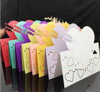 arrow paper party - 200 Sheets Laser Cut Heart Arrow Wedding Place Cards Pearl Paper Name Card Theme Party Decoration W27