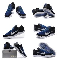 basketball court marking - with shoes Box NEW Kobe Kobe XI Low Muse III Mark Parker Black Blue White Men Basketball Shoes Kids shoes