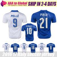 Wholesale Camiseta Italy Euro Cup Italy Soccer Jerseys Top Thai Quality Chiellini Verratti De Rossi Pirlo maillot de foot