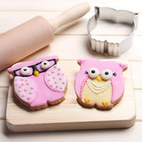 big cookies - 300pcs DIY Stainless steel Big Owl Shape Cake Cookie Biscuit Baking Molds Schwarzwald Cake Decorating Fondant Tools ZA0680
