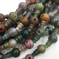 Wholesale mm x8mm Natural Indian Agate Tibet Guru Gemstone Beads DIY Fashion Necklace bracelet