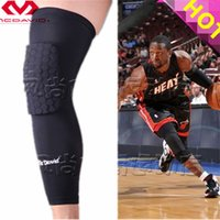 Wholesale High Quality Mcdavid Breathable Basketball Footable Sports Kneepad Shank Honeycomb Pad Bumper Tight Kneelet legguard
