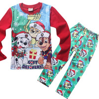 baby snow suit - Kids Clothing paw patrol baby pajamas New Cotton Cartoon Long Sleeve clothes trousers Homewear Suit boys girls snow slide Children