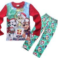Wholesale Kids Clothing paw patrol baby pajamas New Cotton Cartoon Long Sleeve clothes trousers Homewear Suit boys girls snow slide Children
