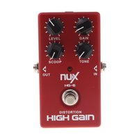Wholesale NUX HG High Quality Guitar Distortion High Gain Electric Effect Pedal True Bypass Red Durable Guitar Parts Accessories