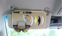 Wholesale Genuine Leather Multi function Car Auto Visor CD DVD Organizer Credit Card Holder Sun Visor Storage