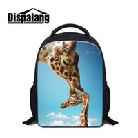 al por mayor bolso de hombro de 12 pulgadas-12 pulgadas de los niños de impresión animal Mochila Elk Giraffe School Bags para niños pequeños Libro Bolsas Niños Mochila Casual Mochila