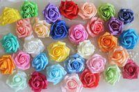 foam flowers - 100Pcs cm layers Rose Head Multicolor PE Foam Rose Handmade DIY Wedding Home Decoration Multi use Artificial Flower Head