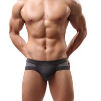 Wholesale Calzoncillos Hombres Brand Men s Briefs Soft Cotton Blend Sexy Underwear Men Casual Breathable Underpants Shorts Mens Male