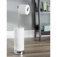Wholesale Classico Free Standing Toilet Paper Roll Holder for Bathroom Storage Chrome
